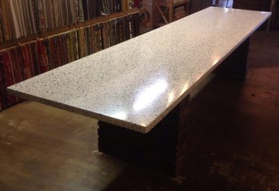 Concrete - White Marble Mix & Formed